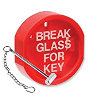 FSSS Ltd BREAK GLASS KEY BOX/FIRE ALARM. WITH HAMMER SAFETY SECURITY LANDLORD RETAIL HIMO