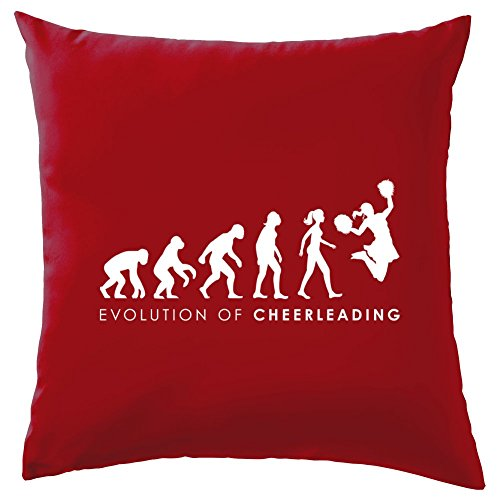 Dressdown Evolution of Woman - Cheerleading - Dekokissen 41 x 41 cm - Rot (Cheerdance Kostüm Rot)