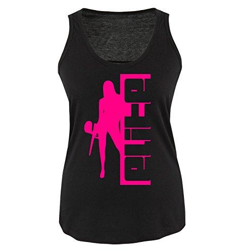 Comedy Shirts - PAINTBALL - ELITE - Donna Tank Top canottiera - taglia S-XL vari colori nero / fucsia