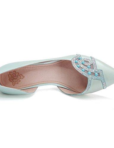WSS 2016 Chaussures Femme-Bureau & Travail / Décontracté-Bleu / Rose-Talon Aiguille-Talons / Bout Pointu-Chaussures à Talons-Cuir blue-us6.5-7 / eu37 / uk4.5-5 / cn37