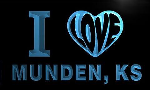 v56395-b I Love MUNDEN, KS KANSAS City Limit Neon Light Sign