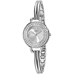 Chronostar Starlight Women's Quartz Watch with Silver Dial Analogue Display and Silver Strap R3753237501