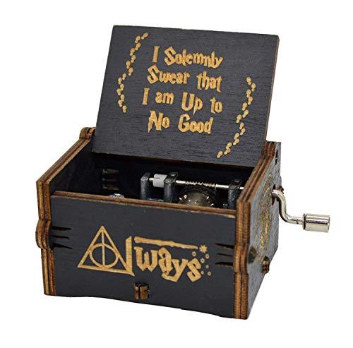 Youtoo Retro Holz Spieluhr Hand klassischen Handkurbel Musik Box für Geschenke (Star Wars Melodie) (Star Wars Tee)