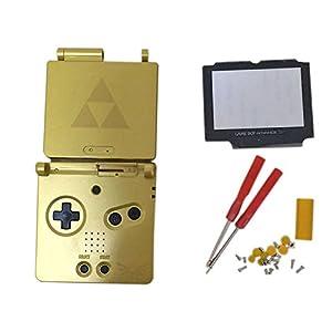 Meijunter Ersatz Gehäuse Hülle Housing Shell Case Cover mit Bildschirm Glaslinse & Schraubenzieher Tool Ersatzteile für Nintendo Gameboy Advance SP GBA SP Console (limitierte Auflage)