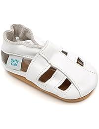 Dotty Fish Chaussures cuir souple bébé et bambin. Garçons et filles sandales. Nouveau-né à 3-4 Ans