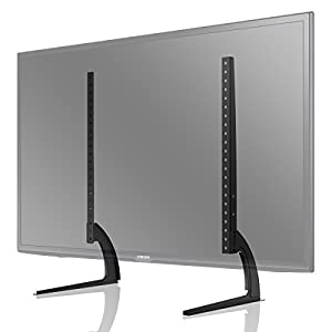 1home Universal Table Desk Pedestal TV Stand Tabletop Screen Monitor Riser for 32″-70″ LCD/LED TVs-Securely Holds 50KG & Max.VESA 800x400mm