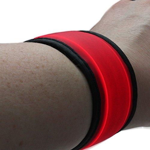 LED Armband joggen - Sportleuchte - Sicherheit beim Jogging Laufen Fahrrad - Helles Licht - Leuchtarmband Blinklicht rot