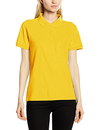 Fruit of the Loom Damen Poloshirt Gelb - Yellow (Sunflower Yellow)