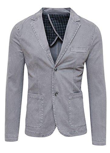 Blazer Giacca Uomo Grigio Slim Fit Elegante Formale usato  Spedito ovunque in Italia
