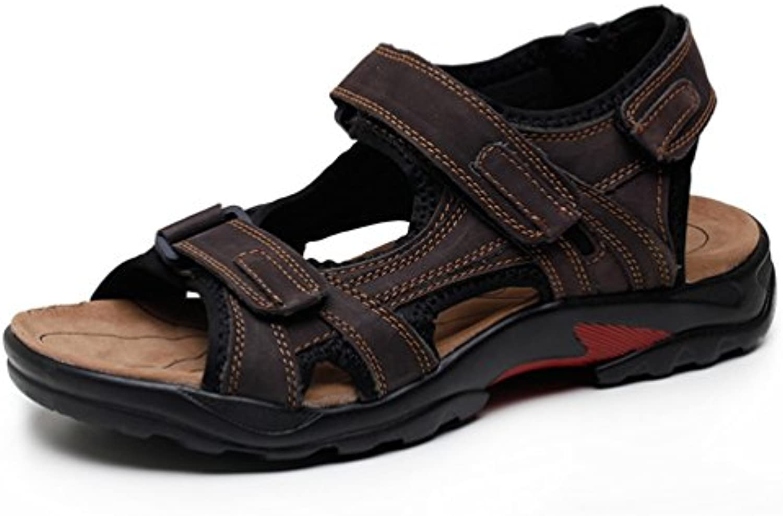 Herren Leder Sandalen Sommer Strandschuhe Neue Mode Atmungsaktive Pantoffeln Kausale SchuheSandalen Strandschuhe Atmungsaktive Pantoffeln Kausale