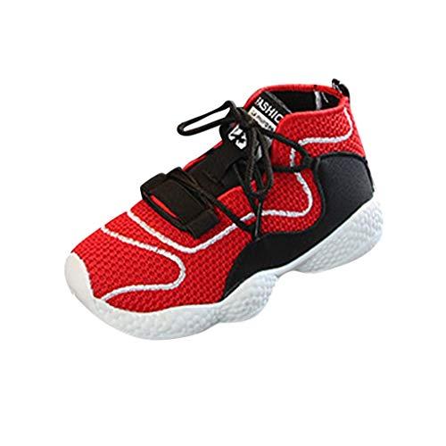 AIni Schuhe Baby,2019 Neuer Beiläufiges Mode Sale Kinder Säugling Kinder Baby Jungen Mädchen Mesh Atmungsaktive Sport Lauf Sneakers Schuhe Kleinkinder Schuhe Lauflernschuhe Krabbelschuhe (24,Rot)