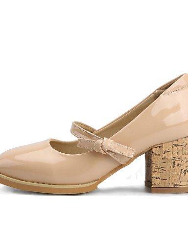 WSS 2016 chaussures pour femmes printemps talons / été / automne / bout carré talons partie&soirée / robe / casual chunky talon boucle pink-us5 / eu35 / uk3 / cn34