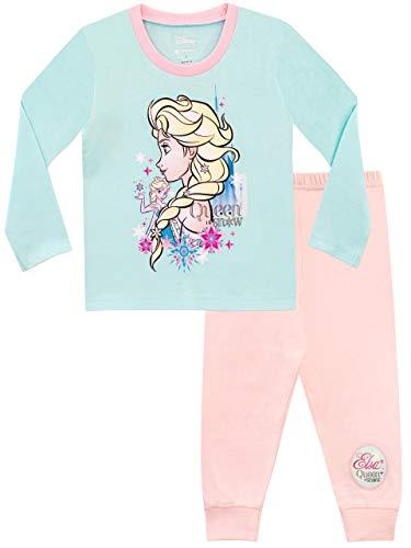 Disney frozen pigiama a maniche lunghe per ragazze il regno di ghiaccio rosa 5-6 anni