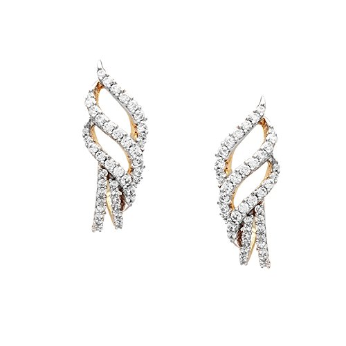 Giantti 14carats Diamant pour femme Boucles d'oreille à tige (0,65CT, VS/Si-clarity, Gh-colour)