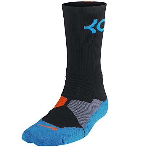 NIKE Chaussettes Hyper Elite Basketball Crew Schwarz / Foto blau-Team Orange