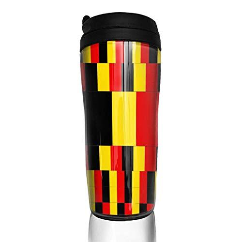 Travel Coffee Mug Belgium Flag 12 Oz Spill Proof Flip Lid Water Bottle Environmental Protection Material ABS (Big Travel Mug Bubba)