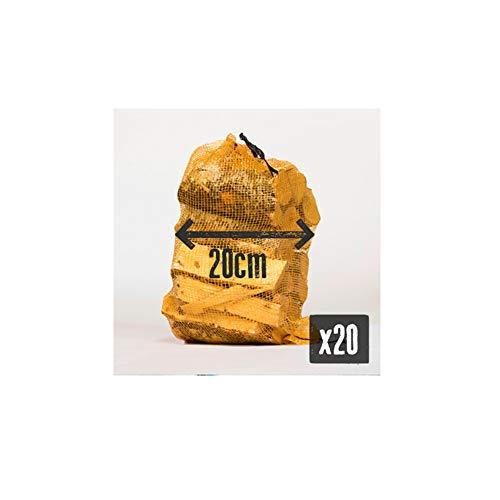 Holzscheite, 20 cm, Birke, ofengetrocknetes Hartholz, ca. 10 kg Netz. - Perfektes Kaminholz für kleine Holzbrenner & kleine Holzofen und offene Kamine. 1 x 10 kg