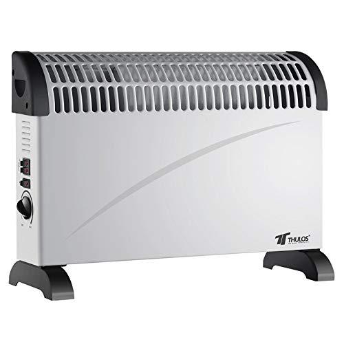 Thulos Calefactor convector con Turbo Ventilador, 3 ajustes de Temperatura 750W / 1250W / 2000W TH-CH2001...