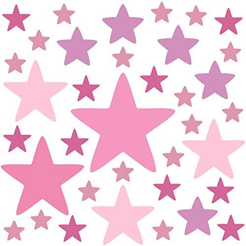 PREMYO 36 Estrellas Pegatinas Pared Infantil - Vinilos Decorativos Habitación Bebé Niña - Fácil...