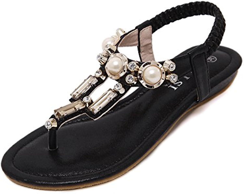 les sandales de fond plat xzgc clip nip antidérapantes perles perles perles des chaussures de plage de pearl, 3,5 uk, noir b07bt1nlxq parent | Moderne Et élégant à La Mode  031654