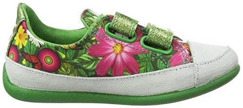 Desigual Shoes_mini Happy 1, Espadrilles fille Vert - Grün (4126 GREEN SHEEN)