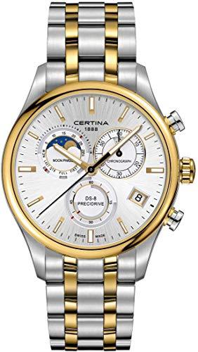 Certina DS-8 Moon Phase C033.450.22.031.00 Chronographe pour homme Indicateur de la phase de la lune