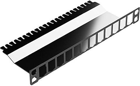 Lönartz 12-fach E-DAT Modulträger für 10 Zoll Schränke, 2/3HE, Anbringung von oben, Edelstahl, nummeriert (inkl. Schrauben und Kabelbinder) (MT-E-DAT-10Z-2_3HE-O)
