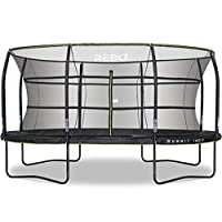 Rebo Summit Oval Trampoline and Safety Enclosure 12ft x 16ft - Summit 1600