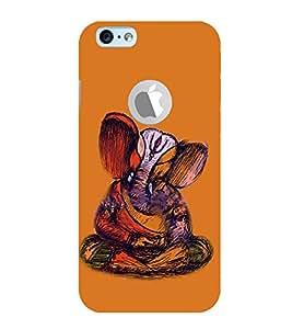 Fiobs Hindu God Ganesh Lord Ganesh Logo Symbol Designer Case Cover For Apple iPhone 6 (Orange)