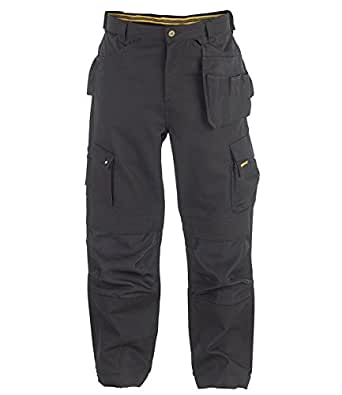 Caterpillar Men's Trademark Work Trousers Black Large Leg - 40 Inch Waist