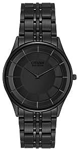 Citizen Men's Eco-Drive Stiletto Black Ion-Plated Watch #AR3015-53E