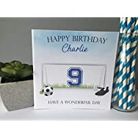 Personalised Boys Birthday Card Football Goaly 10TH 11TH 13TH