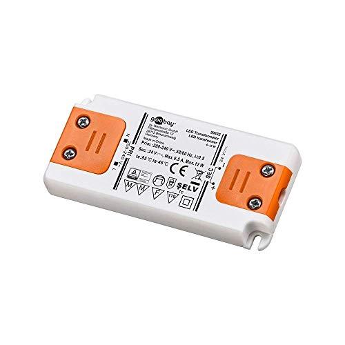Goobay Transformador LED 24V (DC) de 0,5 hasta 12 vatios para lámparas LED, 1 pieza