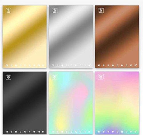 Pigna monocromo metal 02296934m, quaderno formato a4, rigatura 4m, quadretti 4 mm per 4° e 5° elementare medie e superiori, carta 80g/mq, pacco da 10 pezzi