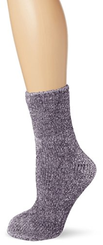 new-look-1pp-chenille-chaussettes-femme-gris-grey-light-grey-taille-unique