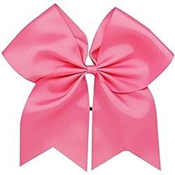 """8""""Grande sólido lazo Ponytail Holders para niñas disfraz Match Cheer equipo accesorio para el pelo (1pc)"""