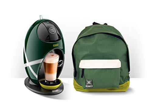 De'Longhi Dolce Gusto Jovia Munich EDG250.GRX - Cafetera de cápsulas, 15 bares de presión, diseño especial edición limitada con mochila Munich incluída, verde y blanco