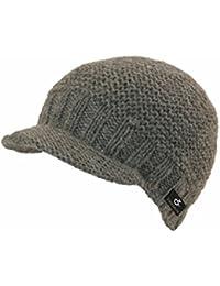 Teddy handmade in Nepal Strickmütze Schildmütze mit Fleece 100% Wolle Mütze