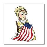 3drose Bettsy Ross et la Révolution américaine 1776Flag-quilt carré, Multicolore, X 15,2cm