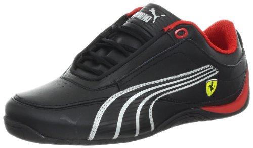 Drift Cat 4 Leder Ferrari Fashion Sneaker (Kleinkind / Kleinkind / kleines Kind / gro?es Kind), schwarz / schwarz / Silber Metallic, 2 M US Little Kid (Schuhe Puma Kleinkind)