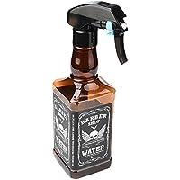 STRIR 500ml Botella de Spray Pulverizador para Peluquería de Estilo Whisky (Marrón)