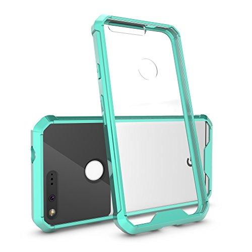 google-pixel-case-heyqietm-transparent-crystal-flexible-tpu-slim-body-shield-bumper-with-clear-acryl