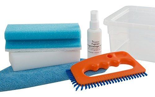 """Fugenial """"Fuginator®"""" Set pulizia per uso universale - Spazzola per fughe tra piastrelle e detergente (50 ml) inclusi - Set di pulizia per tutta la casa"""