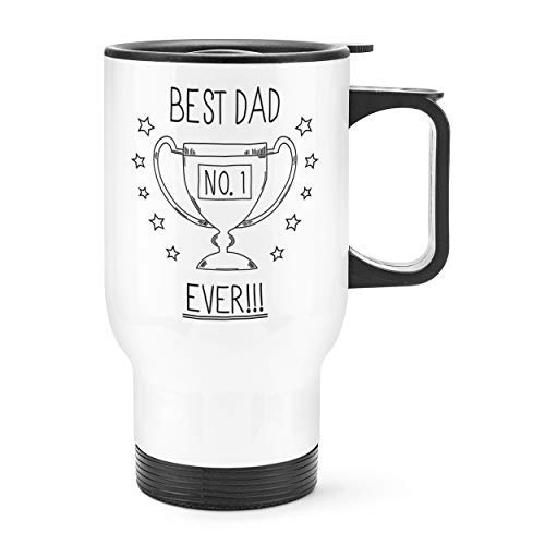 Gift Base Best Dad Ever Nr. 1 Reise Becher Tasse Weißer Griff