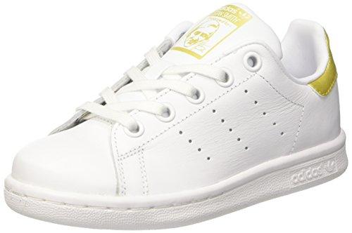 Adidas-Stan-Smith-Sneaker-a-Collo-Basso-Unisex–Bambini-Bianco-Ftwr-WhiteFtwr-WhiteGold-Metallic-30-EU