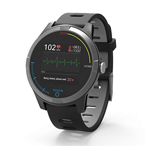PRIXTON - Reloj Inteligente Smartwatch para Android e iOS con Electrocardiograma, Presión en Sangre...