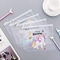 ARVANA Return Gifts for Kids Birthday Party Cute Unicorn Pouches for Pencil / Scale / Eraser / Sharpener for Girls / Boys (Pack of 6) …