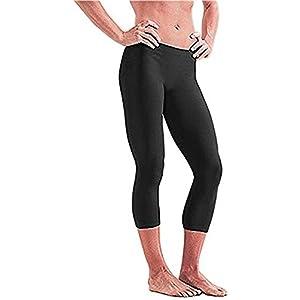 Dive&Sail, pantaloni unisex di protezione dagli UV per surf, yoga, fitness, multiuso, nuoto, Black, XL