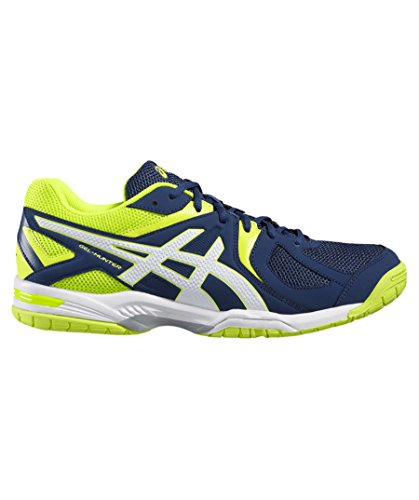 Asics Herren Gel-Hunter 3 R507Y-5801 Badmintonschuhe, Blau (Poseidon/White/Safety Yellow), 44 EU