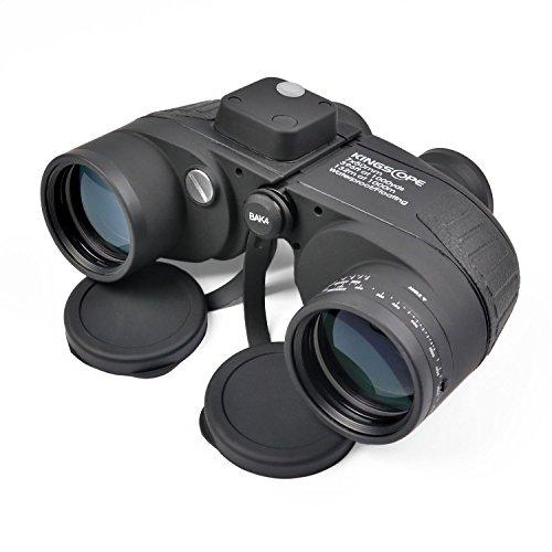 7X50 HD Militär Marine Fernglas mit beleuchtetem Entfernungsmesser und Kompass, BAK4 Porro Prisma...